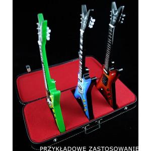 Walizka - Stojak na 3 gitary (Czerwony)