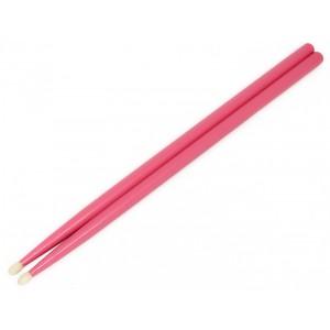 Różowe hikorowe pałeczki perkusyjne